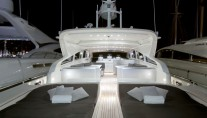 Yacht SARAH A -  Aft Deck at Night